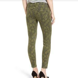 Current/Elliott skinny jeans,  stars, green